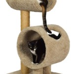 Sisal Scratching Post and Cat Tree with Tunnel