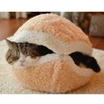 Cute, Soft, and Comfy Hamburger Bed for Cats