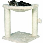 Cozy Cat Hammock the comes attached to a cat tree